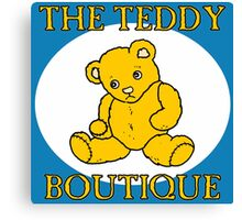 THE TEDDY BEAR BOUTIQUE-GOLD Canvas Print