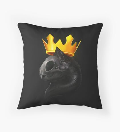 Cat And Crown Throw Pillow