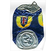 Fosters - Crushed Tin Poster