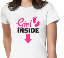 Girl inside Womens Fitted T-Shirt