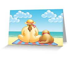 MOLLY  AND  MONTY  AT  THE  BEACH Greeting Card