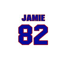 National football player Jamie McCoy jersey 82 Photographic Print