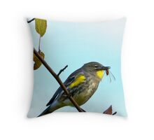 Warbler Feast Throw Pillow