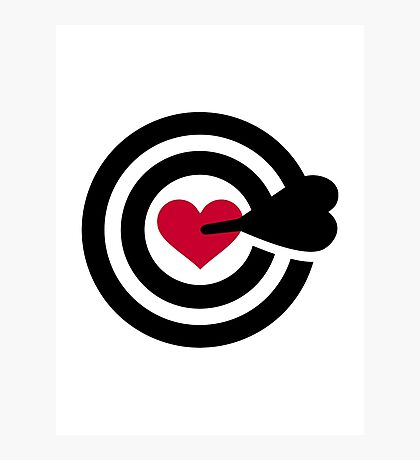 Darts red heart Photographic Print