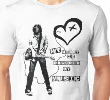 My heart is powered by music Unisex T-Shirt