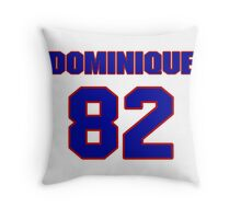National football player Dominique Byrd jersey 82 Throw Pillow