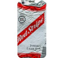Red Stripe - Crushed Tin iPhone Case/Skin
