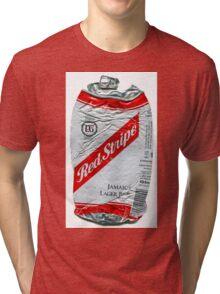 Red Stripe - Crushed Tin Tri-blend T-Shirt