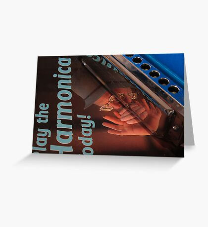 Mouth Organ Manual-Play the Harmonica Today Greeting Card