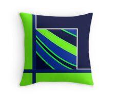 2015 DESIGNS, lime green, royal blue Throw Pillow
