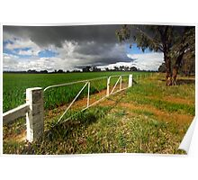 Farmland at Wangaratta Poster