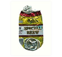 Special Brew - Crushed Tin Art Print