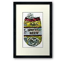 Special Brew - Crushed Tin Framed Print