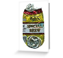 Special Brew - Crushed Tin Greeting Card