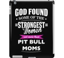 pit bull mom? iPad Case/Skin