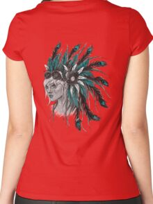 Steampunk Chief Women's Fitted Scoop T-Shirt