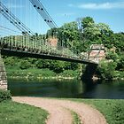 Union Bridge 1st Wrought Iron and longest of time at 137 m Loanend Northumbria England 198405290051m  by Fred Mitchell