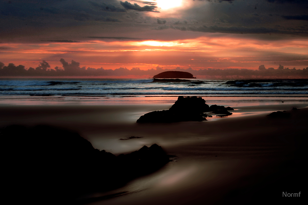 Morning at Emerald Beach by Normf