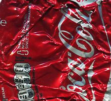 Coca Cola - Crushed Tin - 2 by Jovan Djordjevic