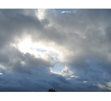 Clouded Sky - Shining Through Photographic Print
