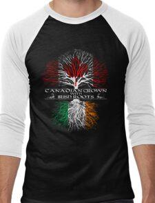 Canadian Grown with Irish Roots Men's Baseball ¾ T-Shirt