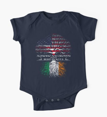 American Grown with Irish Roots One Piece - Short Sleeve