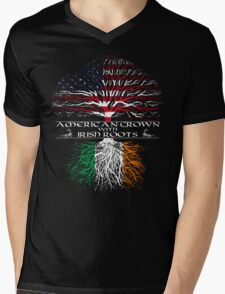 American Grown with Irish Roots Mens V-Neck T-Shirt