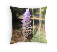 Fuzzy Purple Bud Throw Pillow