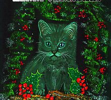 Christmas Kitty by Dawn B Davies-McIninch
