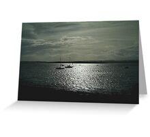 boats at Lindisfarne Greeting Card