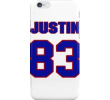 National football player Justin Armour jersey 83 iPhone Case/Skin