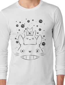 Totoro and Friends Simple Long Sleeve T-Shirt