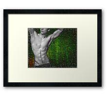 Towel Boy v2 Abs attitude Framed Print