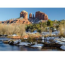 Red Rock Winter Photographic Print