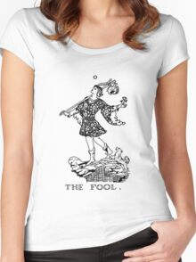 The Fool Tarot Card Women's Fitted Scoop T-Shirt