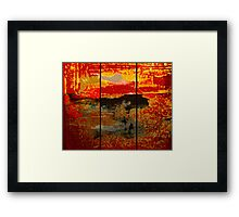 Abstract series Triptych  Framed Print