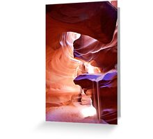 Weeping Sand in Antelope Canyon Greeting Card