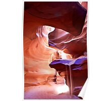 Weeping Sand in Antelope Canyon Poster