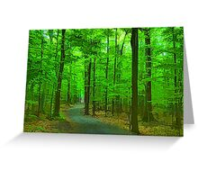 Green Trees - Impressions of Summer Forests Greeting Card