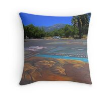 Will he rise from the asphalt? Throw Pillow