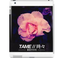 T A M E // M I D N I G H T  F L O W E R V1 iPad Case/Skin