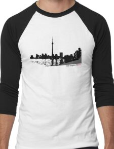 Live Inspire Heart City Scape Men's Baseball ¾ T-Shirt