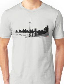 Live Inspire Heart City Scape Unisex T-Shirt