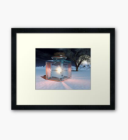 Jar of Light Framed Print