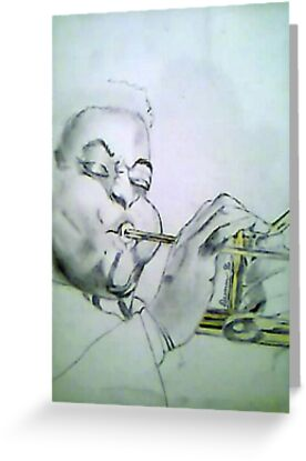Trumpet Player1 by Gary  Dunn