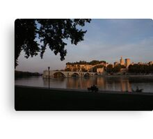 Avignon in Gold Canvas Print