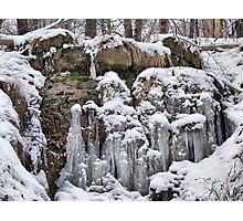 Boulder Icicles Photographic Print