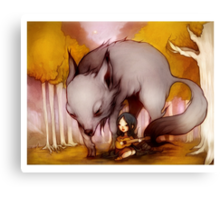 Wolf Lullaby  Canvas Print