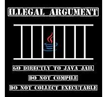 Illegal Argument - Java Photographic Print