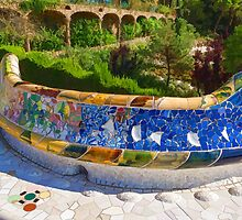 Gaudi's Park Guell - Impressions Of Barcelona by Georgia Mizuleva
